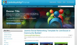 Шаблон JP CommunityPraise для CMS Joomla от JoomlaPraise