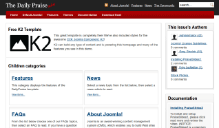 Шаблон JP DailyPraise для CMS Joomla от JoomlaPraise