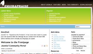 Шаблон JP EnviraPraise для CMS Joomla от JoomlaPraise