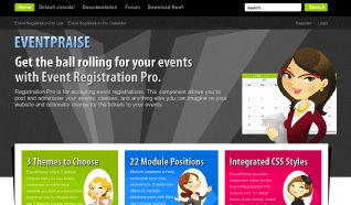 Шаблон JP EventPraise для CMS Joomla от JoomlaPraise