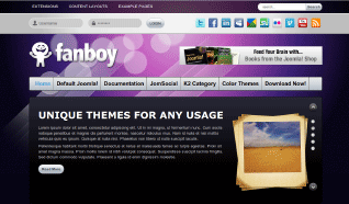 Шаблон JP Fanboy для CMS Joomla от JoomlaPraise