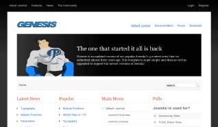 Шаблон JP Genesis для CMS Joomla от JoomlaPraise