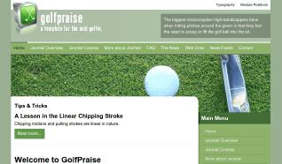 Шаблон JP GolfPraise для CMS Joomla от JoomlaPraise