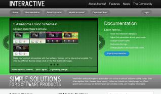 Шаблон JP Interactive для CMS Joomla от JoomlaPraise