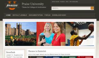 Шаблон JP Praise University для CMS Joomla от JoomlaPraise