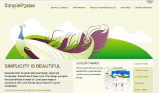 Шаблон JP SimplePraise2 для CMS Joomla от JoomlaPraise
