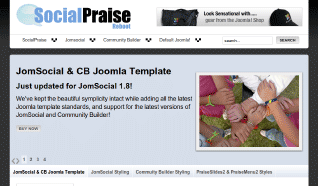 Шаблон JP SocialPraise для CMS Joomla от JoomlaPraise