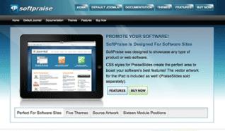 Шаблон JP SoftPraise для CMS Joomla от JoomlaPraise