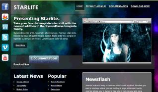 Шаблон JP Starlite для CMS Joomla от JoomlaPraise
