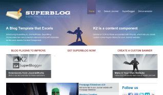 Шаблон JP SuperBlog для CMS Joomla от JoomlaPraise