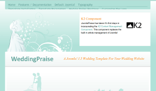 Шаблон JP WeddingPraise для CMS Joomla от JoomlaPraise