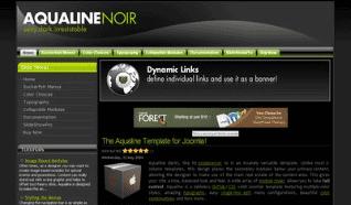 Шаблон JS Aqualine Noir для CMS Joomla от JoomlaShack