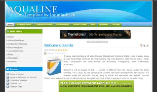 Шаблон JS Aqualine для CMS Joomla от JoomlaShack