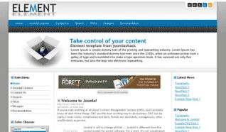 Шаблон JS Element для CMS Joomla от JoomlaShack