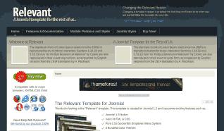 Шаблон JS Relevant для CMS Joomla от JoomlaShack
