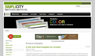 Шаблон JS Simplicity для CMS Joomla от JoomlaShack