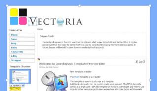 Шаблон JS Vectoria для CMS Joomla от JoomlaShack