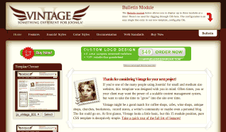 Шаблон JS Vintage для CMS Joomla от JoomlaShack