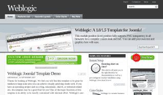 Шаблон JS Weblogic для CMS Joomla от JoomlaShack
