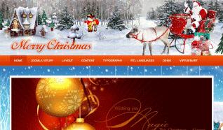 Шаблон JV Merry Christmas для CMS Joomla от JoomlaVision