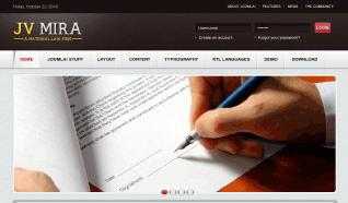 Шаблон JV Mira для CMS Joomla от JoomlaVision