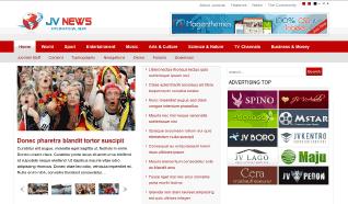 Шаблон JV News II для CMS Joomla от JoomlaVision