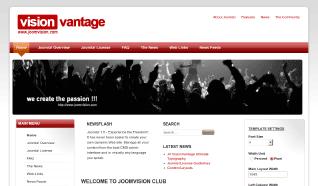 Шаблон JV Vantage для CMS Joomla от JoomlaVision