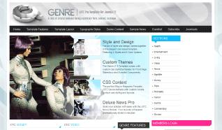Шаблон JXTC Genre для CMS Joomla от JoomlaXTC