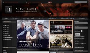 Шаблон JXTC Music Label для CMS Joomla от JoomlaXTC