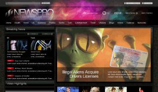 Шаблон JXTC NewsPro Dark для CMS Joomla от JoomlaXTC