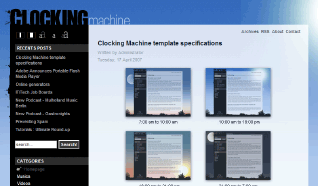 Шаблон NJ Clocking Machine для CMS Joomla от NeoJoomla