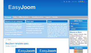 Шаблон NJ EasyJoom для CMS Joomla от NeoJoomla