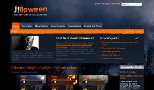 Шаблон NJ Jlloween для CMS Joomla от NeoJoomla