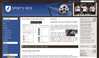 Шаблон NJ Sports Web для CMS Joomla от NeoJoomla