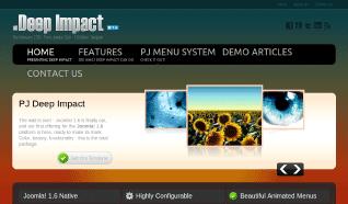 Шаблон PJ Deep Impact для CMS Joomla от PureJoomla