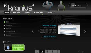 Шаблон PJ Kranius 2 для CMS Joomla от PureJoomla