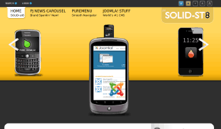 Шаблон PJ Solid-ST8 для CMS Joomla от PureJoomla