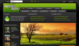 Шаблон RT BentoBox Dark для CMS Joomla от RocketTheme
