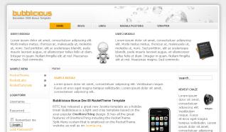 Шаблон RT Bubblicious для CMS Joomla от RocketTheme
