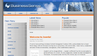 Шаблон RT BusinessSense для CMS Joomla от RocketTheme