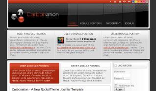 Шаблон RT Carbonation для CMS Joomla от RocketTheme