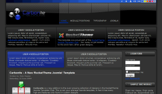 Шаблон RT Carbonite для CMS Joomla от RocketTheme