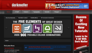 Шаблон RT DarkMatter для CMS Joomla от RocketTheme