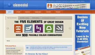 Шаблон RT Elemental для CMS Joomla от RocketTheme