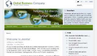 Шаблон RT GlobalBiz для CMS Joomla от RocketTheme