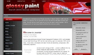 Шаблон RT GlossyPaint для CMS Joomla от RocketTheme