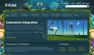 Шаблон RT Infuse для CMS Joomla от RocketTheme