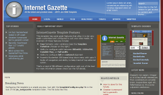 Шаблон RT Internet Gazette для CMS Joomla от RocketTheme