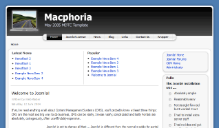 Шаблон RT Macphoria для CMS Joomla от RocketTheme