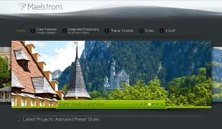 Шаблон RT Maelstrom для CMS Joomla от RocketTheme
